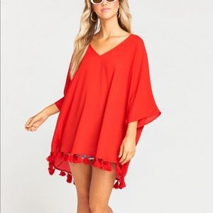 Show Me Your MuMu Swim - Show Me Your Mumu Red Tassle Cover Up